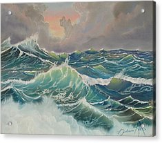 Big Seas Acrylic Print by Barbara Keel