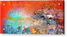 Big Shot - Orange And Blue Colorful Happy Abstract Art Painting Acrylic Print