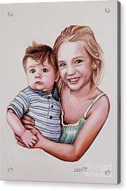 Big Sister Acrylic Print by Dave Luebbert