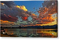 Acrylic Print featuring the photograph Big Sky by Eric Dee
