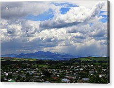 Big Sky Over Oamaru Town Acrylic Print