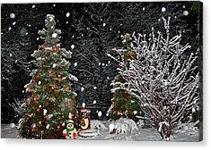 Big Snow Flakes    Holiday Card 6 Acrylic Print by Robert Joseph