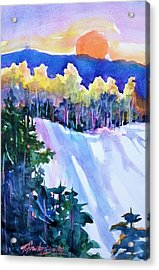 Big Sunshine Cold November Acrylic Print by Therese Fowler-Bailey
