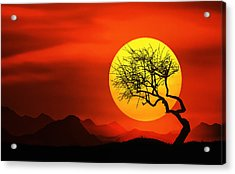 Big Sunset Acrylic Print by Bess Hamiti