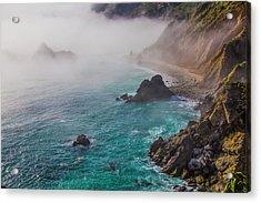Big Sur Coastal Fog Acrylic Print by Garry Gay