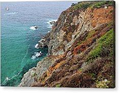 Big Sur Colorful Sea Cliffs Acrylic Print by Pierre Leclerc Photography