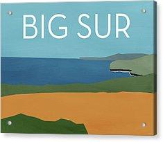 Big Sur Landscape- Art By Linda Woods Acrylic Print by Linda Woods