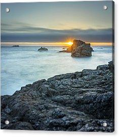Big Sur Seascape Acrylic Print by Steve Spiliotopoulos