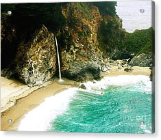 Big Sur Waterfall Acrylic Print by Jerome Stumphauzer