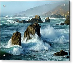 Big Sur Winter Wave Action Acrylic Print