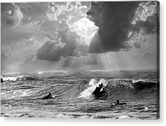 Acrylic Print featuring the digital art Big Surf by John Hix