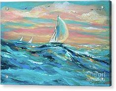Big Swell Acrylic Print by Linda Olsen