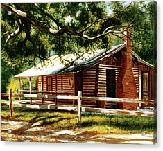 Big Thicket Information Center_the Staley Cabin Acrylic Print