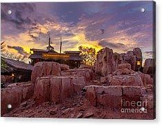 Big Thunder Mountain Sunset Acrylic Print