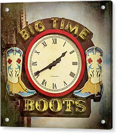Big Time Boots - Nashville Acrylic Print by Stephen Stookey