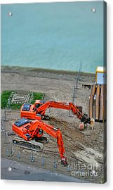 Big Toys Acrylic Print by Olivier Le Queinec