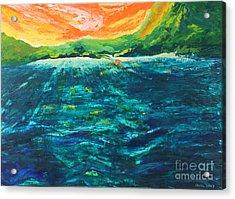 Big Tropical Wave Acrylic Print by Stella Sherman