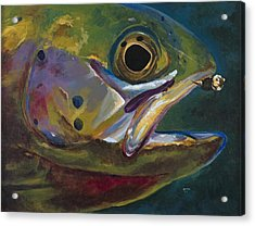 Big Trout Acrylic Print by Les Herman