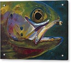 Big Trout Acrylic Print by Les Herman