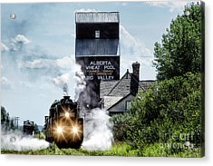 Big Valley Steam Acrylic Print by Brad Allen Fine Art