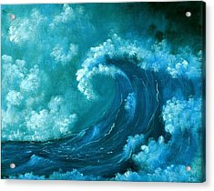 Big Wave Acrylic Print by Anastasiya Malakhova