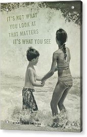 Big Wave Quote Acrylic Print by JAMART Photography