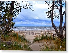 Big Waves On Lake Michigan 2.0 Acrylic Print by Michelle Calkins