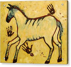 Big Yellow Lascaux Horse Acrylic Print