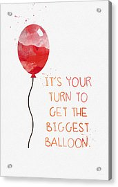 Biggest Balloon- Card Acrylic Print