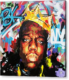 Acrylic Print featuring the painting Biggy Smalls IIi by Richard Day