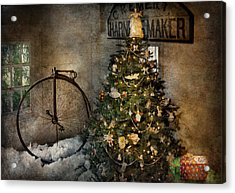 Bike - I Wanna Bike For Christmas  Acrylic Print by Mike Savad