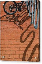 Bike And Bricks No.2 Acrylic Print by Linda Apple