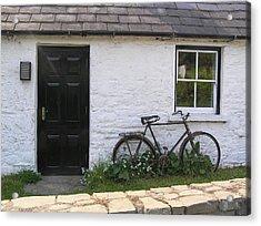 Bike And Irish Cottage Acrylic Print