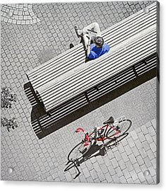 Acrylic Print featuring the photograph Bike Break by Keith Armstrong
