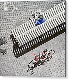Bike Break Acrylic Print by Keith Armstrong