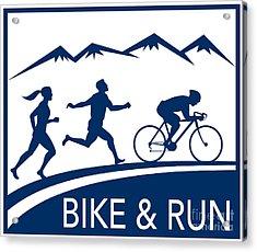 Bike Cycle Run Race Acrylic Print