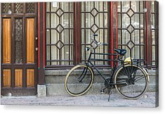 Bike In Amsterdam Acrylic Print