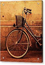 Bicycle At Rest, Paris  Acrylic Print