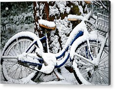 Bike In The Snow Acrylic Print