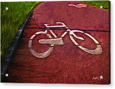 Bike Lane - Pa Acrylic Print by Leonardo Digenio