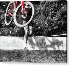 Bike Lifting  Acrylic Print by Steven Digman