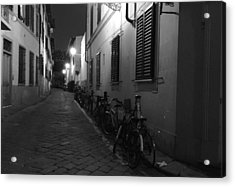 Bike Lined Alley Acrylic Print
