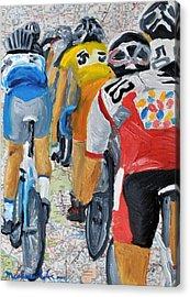 Bike Map 2 Acrylic Print by Michael Lee