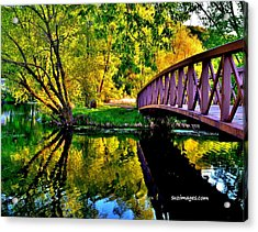 Bike Path Bridge Acrylic Print