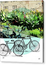 Bike Poster Acrylic Print by Deborah Nakano
