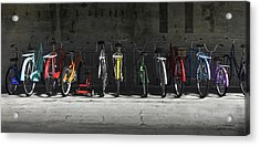 Bike Rack Acrylic Print by Cynthia Decker