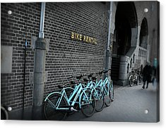 Acrylic Print featuring the photograph Bike Rental by Scott Hovind