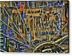 Bike Repair Shop Acrylic Print