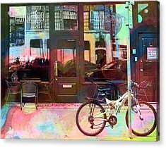Acrylic Print featuring the digital art Bike Ride To Runyons by Susan Stone