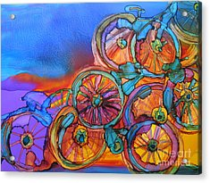 Bike Sculpture Acrylic Print by Susan Riha Parsley